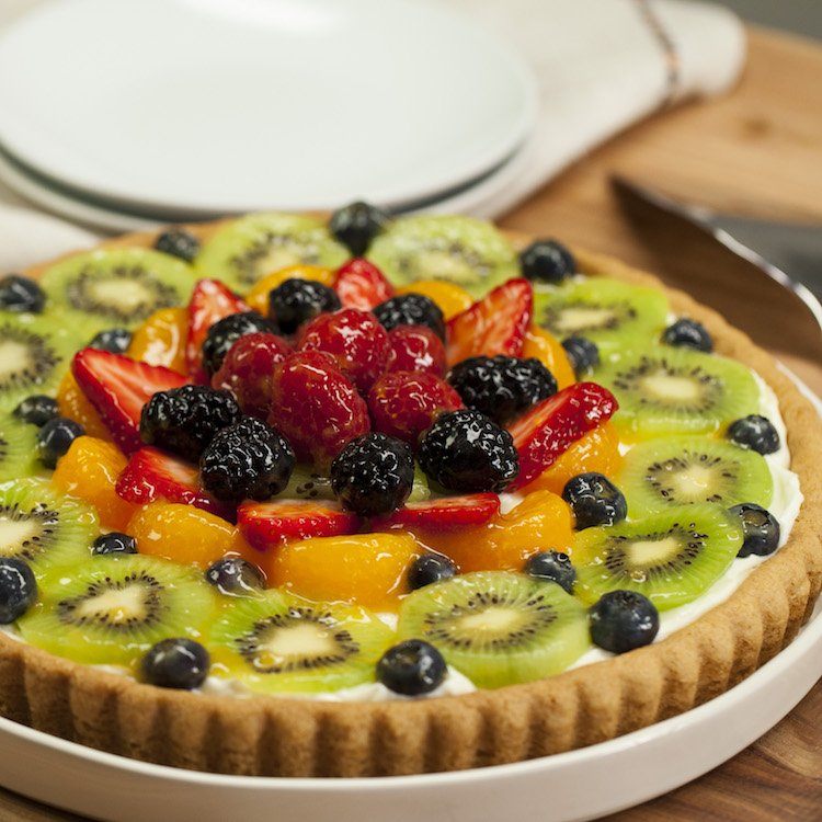 sugar cookie fruit tart 4