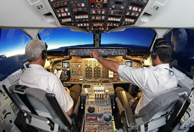 airline cockpit