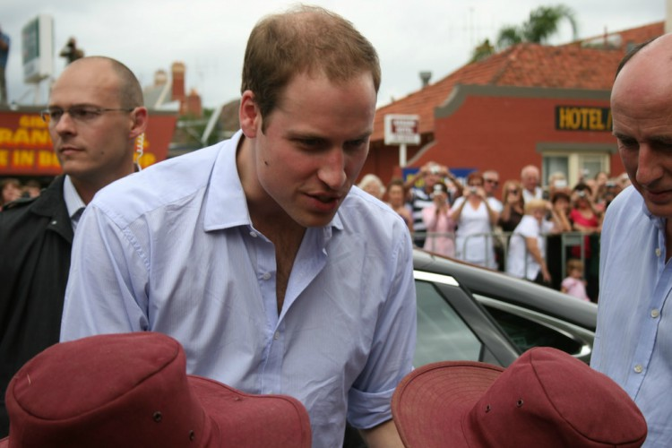 Image of Prince William's receding hair line.