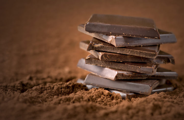 Image of chocolate bars close up