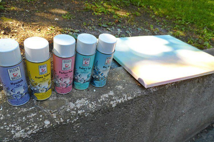 Button Tree Spray Paint