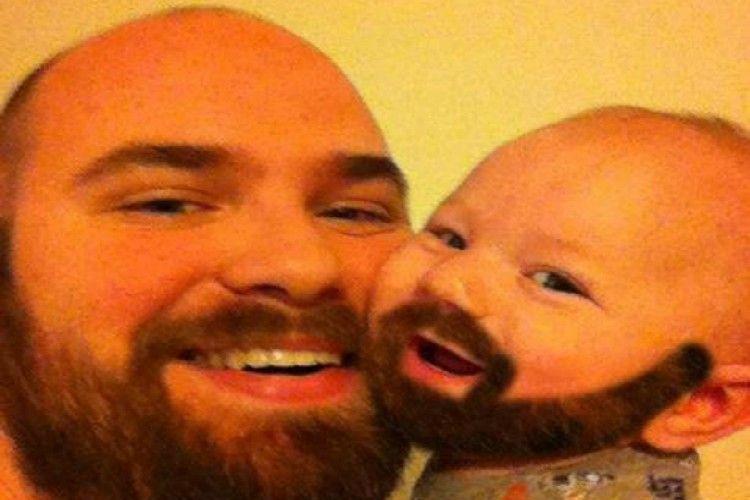 parent child beard