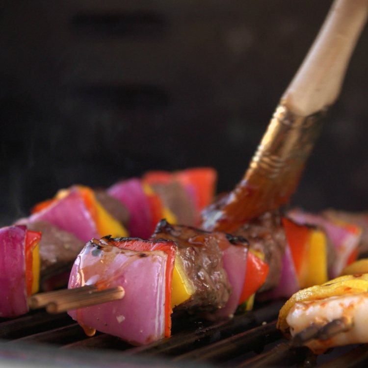 Sweet & Spicy Surf & Turf Kabobs