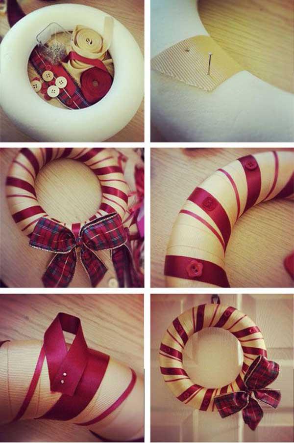 Satin Candy Wreath