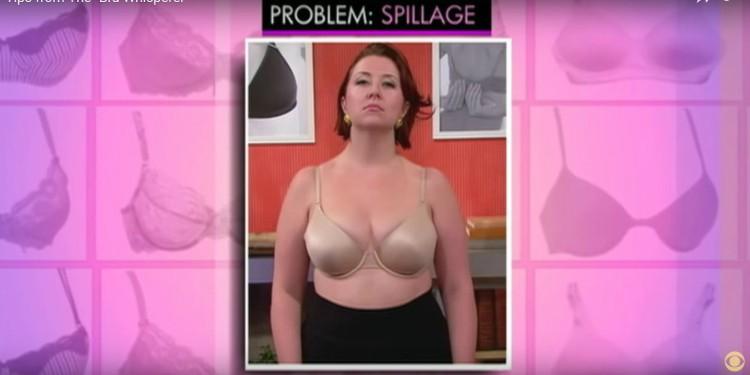 Bra with spillage