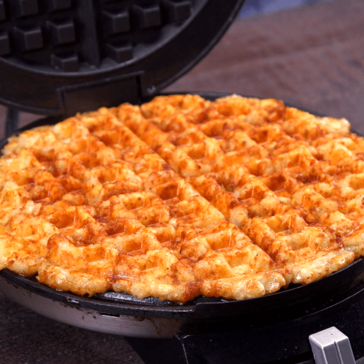 Tater Tot Grilled Cheese waffle