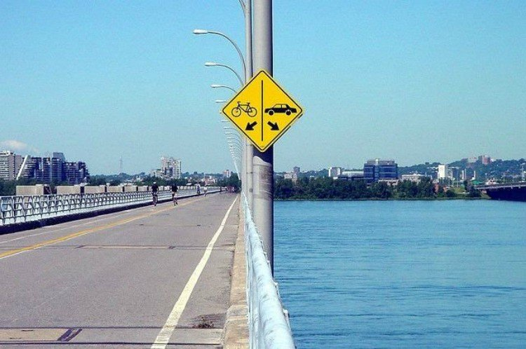 fail bike car sign