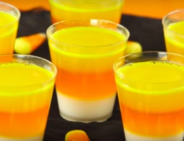 Image of candy corn shots.