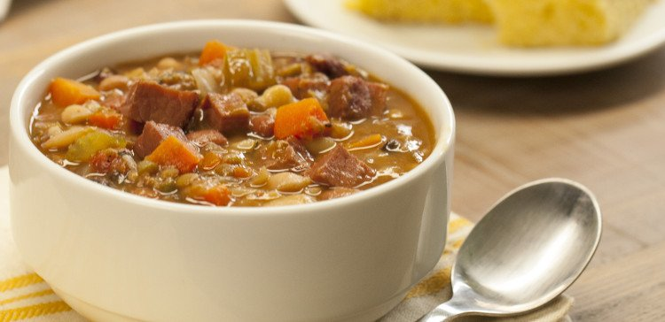 Slow Cooker Ham and Bean Soup FI