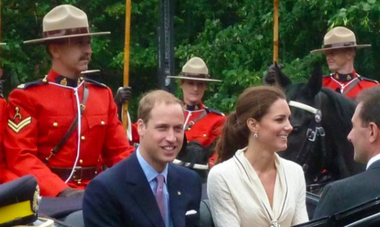 Prince William and Kate at a ceremony