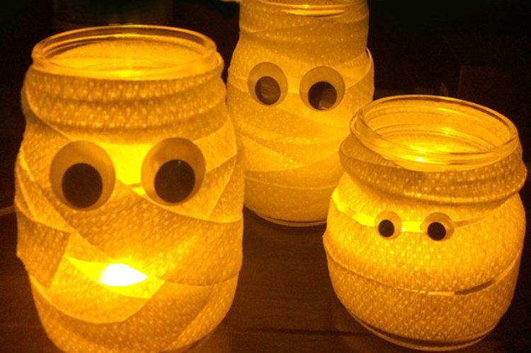 DIY mummy jars
