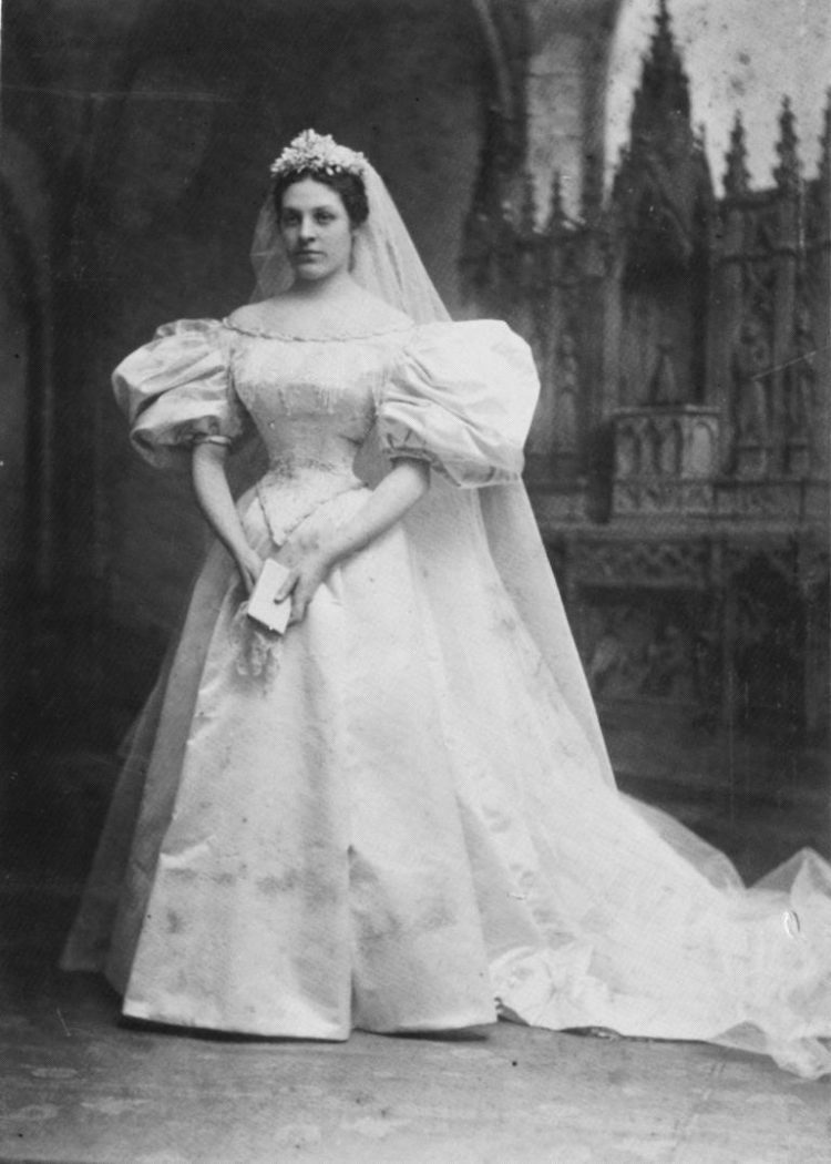 Mary, the first owner of the traditional wedding dress.