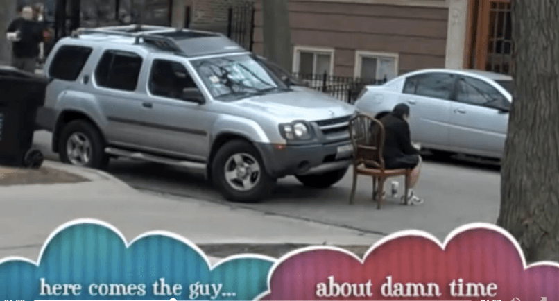driver comes back to suv
