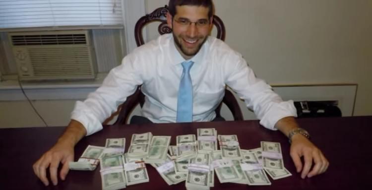 The $98,000 found in a desk.