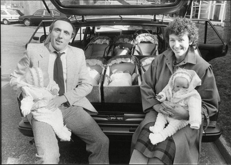 Walton parents with infants.