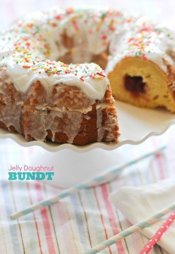 Jelly Doughnut Bundt