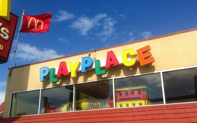 Image of McDonald's playplace.