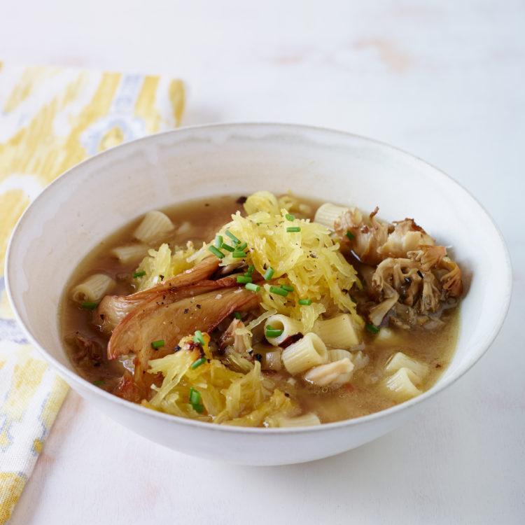 Spaghetti Squash Soup with Wild Mushrooms