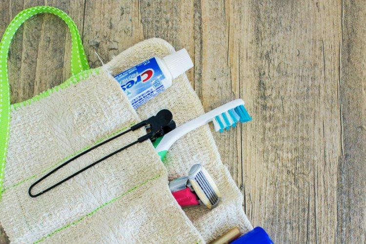DIY Washcloth Travel Kit 1