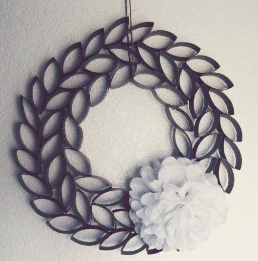 Paper Roll Wreath