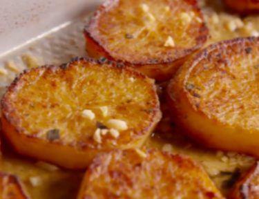 close-up of melting potatoes