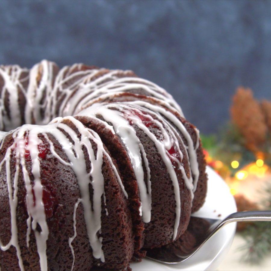 Chocolate Cherry Cheesecake Finished