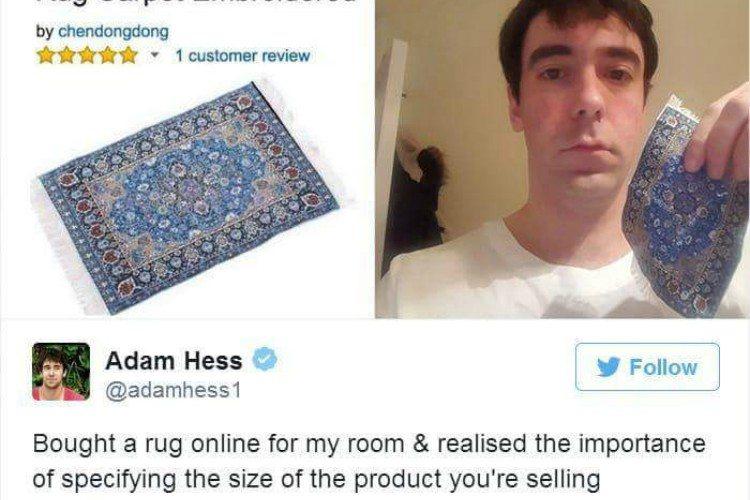 shopping fail rug
