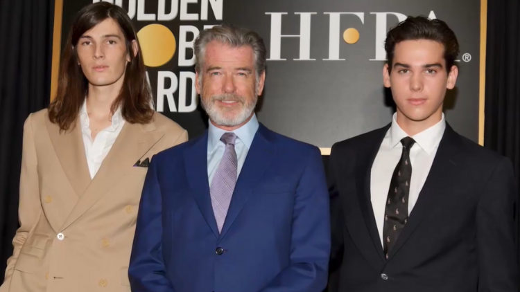 Picture of Pierce Brosnan with two of his sons