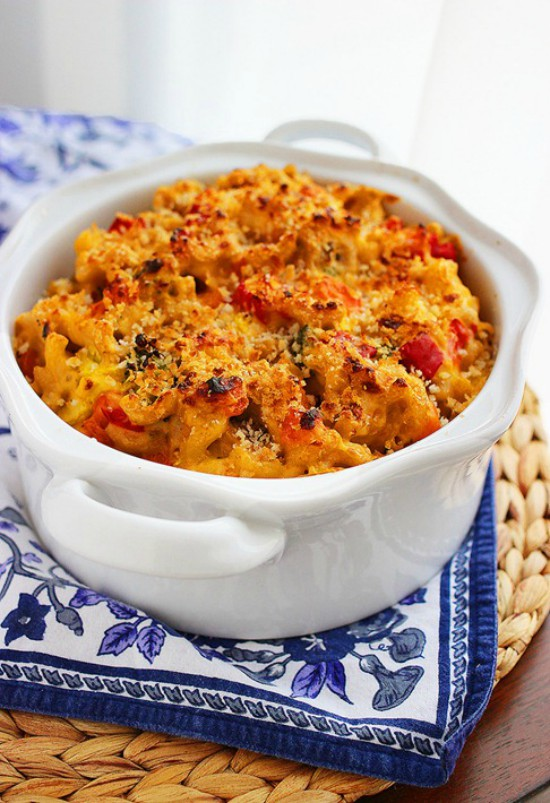 Spicy Roasted Vegetable Macaroni and Cheese Edited