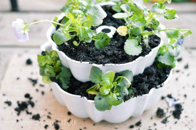 bundt cake planter