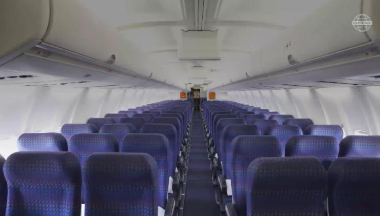 Image of seats on a plane.