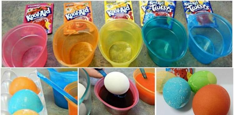 Kool Aid Easter Eggs Collage