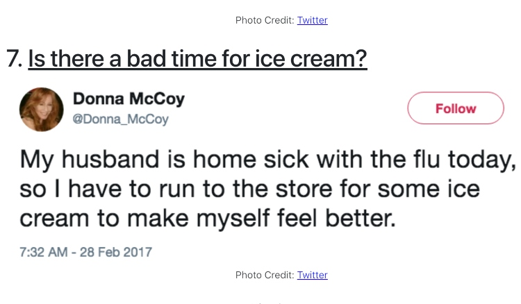 Husband with cold tweet