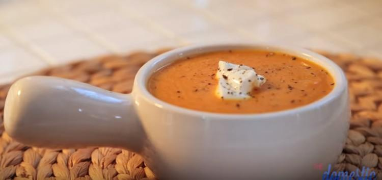 Spiced carrot and ginger soup.
