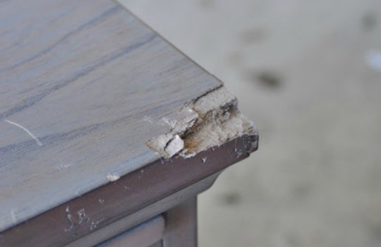 Image of damaged furniture.