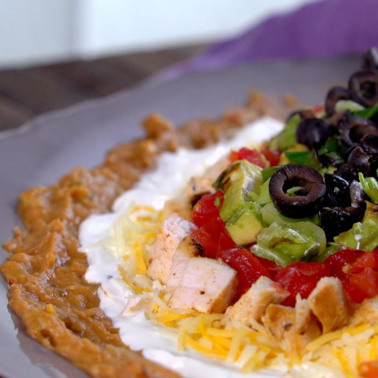 Grilled Chicken Layered Taco Dip close-up