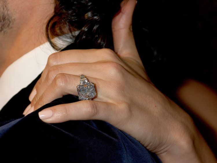 Image of engagement ring from Marc Anthony