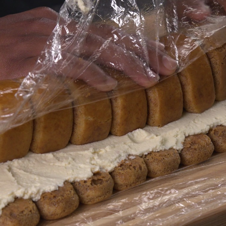 Luscious ladyfingers soaked in coffee liqueur, filled with a rich mascarpone sweet cream filling, and rolled into one to-die-for dessert.