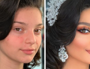 Image of before and after makeup
