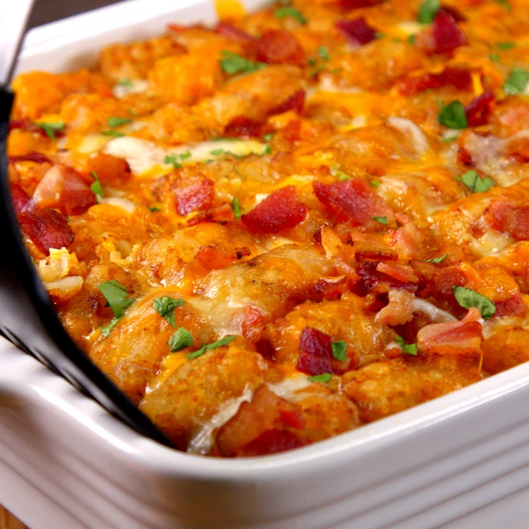 Do Ahead Egg And Sausage Bake: Tater Tot Breakfast Casserole