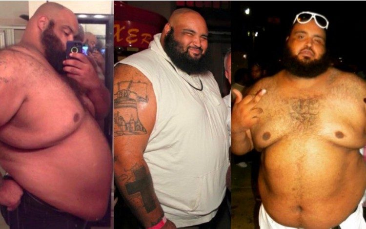 splitscreen of Pat Brocco before weight loss