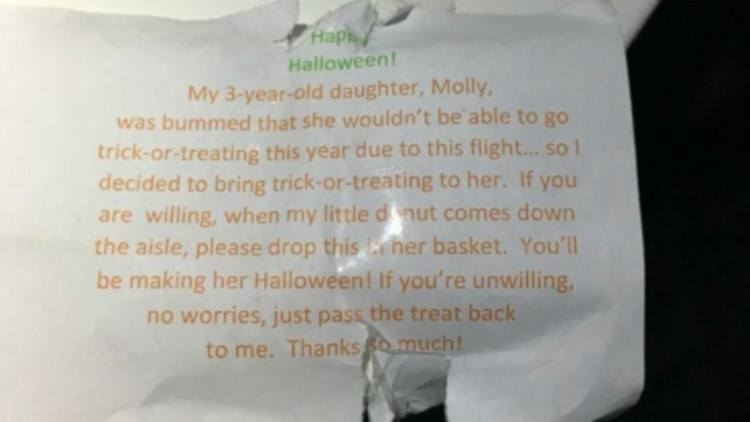 trick-or-treating note