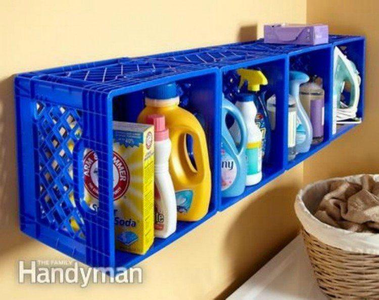 Plastic Crate Organizer