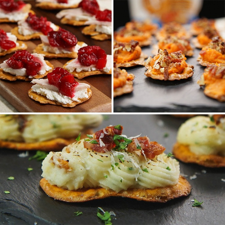 3 Thanksgiving Leftover Appetizers with Snack Factory® Pretzel Crisps®