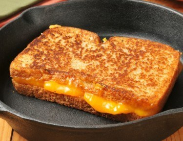 Grilled cheese with mayo.