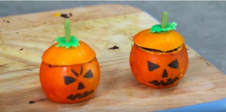 Halloween citrus cupcake