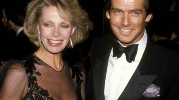 Picture of Pierce Brosna with his first wife Cassandra Harris