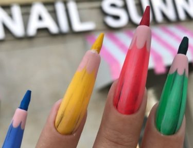 Image of colored pencil nails