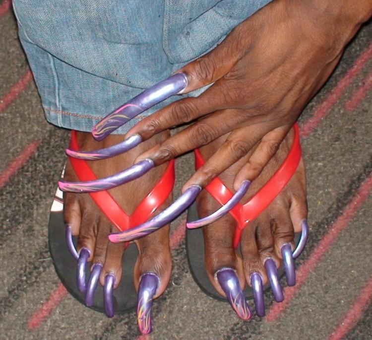 Image of extra long nails