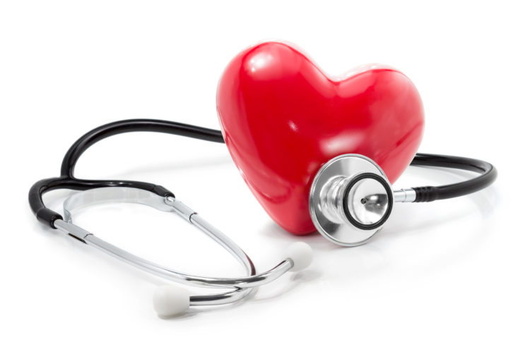 Image of heart with a stethoscope